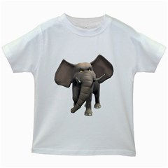 Elephant 1 Kids' T Shirt (white)