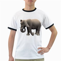 Elephant 2 Mens' Ringer T Shirt
