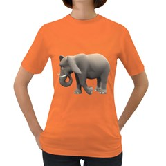 Elephant 2 Womens' T Shirt (colored) by gatterwe