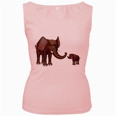 Elephant 3 Womens  Tank Top (pink) by gatterwe