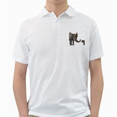 Elephant 3 Mens  Polo Shirt (white) by gatterwe