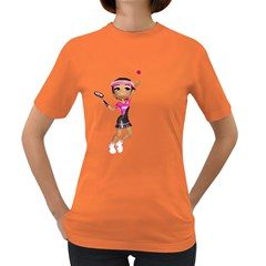 Tennis Girl 2 Womens' T Shirt (colored)