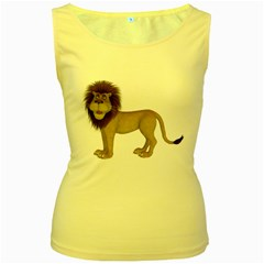 Lion 1 Womens  Tank Top (yellow)
