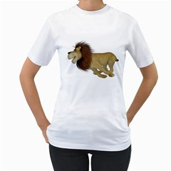 Lion 2 Womens  T Shirt (white) by gatterwe