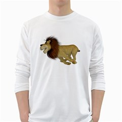 Lion 2 Mens' Long Sleeve T Shirt (white) by gatterwe