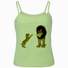 Lion 3 Green Spaghetti Tank by gatterwe