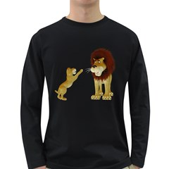 Lion 3 Mens' Long Sleeve T Shirt (dark Colored) by gatterwe