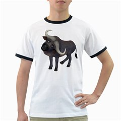 Buffalo 1 Mens' Ringer T-shirt by gatterwe