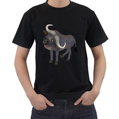 Buffalo 1 Mens' Two Sided T Shirt (black) by gatterwe
