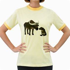 Buffalo 2 Womens  Ringer T Shirt (colored) by gatterwe