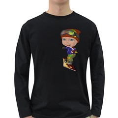 Snowboarder 3 Mens' Long Sleeve T Shirt (dark Colored)