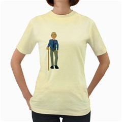 Grandpa 2  Womens  T Shirt (yellow) by gatterwe