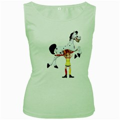 Naughty Girl 3 Womens  Tank Top (green) by gatterwe