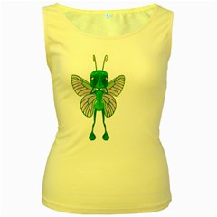 Fly 1 Womens  Tank Top (yellow) by gatterwe