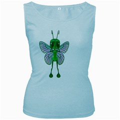 Fly 1 Womens  Tank Top (baby Blue) by gatterwe