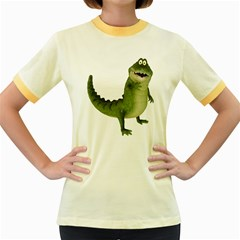 Toon Croco Womens  Ringer T-shirt (colored) by gatterwe