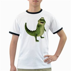 Toon Croco Mens' Ringer T-shirt by gatterwe