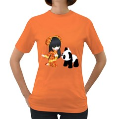 Kawaii China Girl 1 Womens' T Shirt (colored) by gatterwe