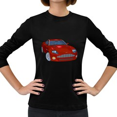 Red Sport Car 1 Womens' Long Sleeve T Shirt (dark Colored)
