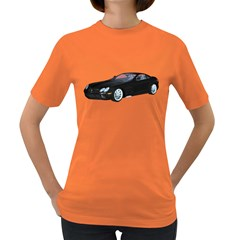 Black Sport Car Womens' T-shirt (colored)