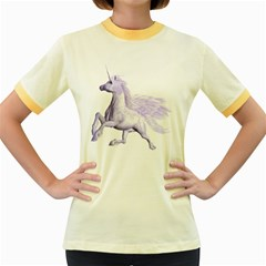Purple Pegasus Womens  Ringer T Shirt (colored) by gatterwe