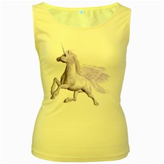 Purple Pegasus Womens  Tank Top (yellow) by gatterwe