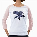 Flying Pony 1 Womens  Long Sleeve Raglan T-shirt (White) Front