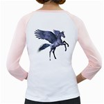 Flying Pony 1 Womens  Long Sleeve Raglan T-shirt (White) Back