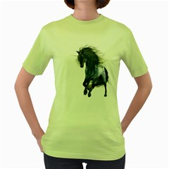 Blue Unicorn 1 Womens  T Shirt (green)