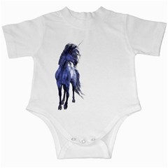Blue Unicorn 2 Infant Creeper by gatterwe