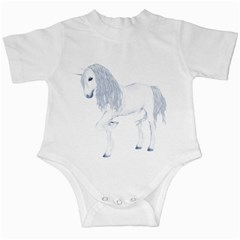 White Unicorn 4 Infant Creeper by gatterwe