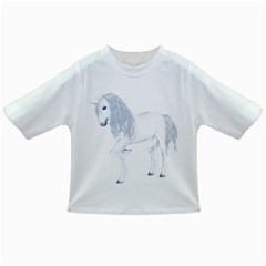 White Unicorn 4 Baby T Shirt by gatterwe