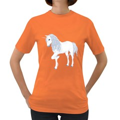 White Unicorn 4 Womens' T-shirt (colored) by gatterwe