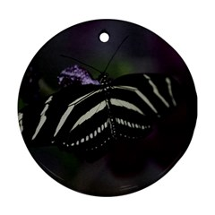 Butterfly 059 001 Round Ornament (two Sides) by pictureperfectphotography