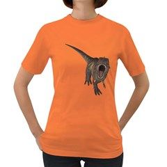 Tyrannosaurus Rex Womens' T-shirt (colored) by gatterwe