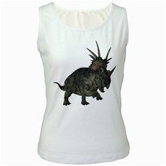 Styracosaurus 1 Womens  Tank Top (white) by gatterwe