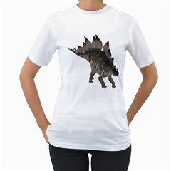 Stegosaurus 2 Womens  T Shirt (white)