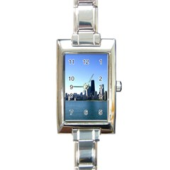 Chicago Skyline Rectangular Italian Charm Watch