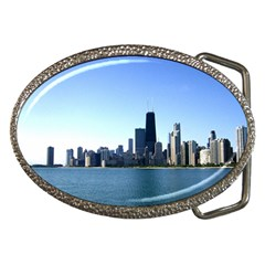 Chicago Skyline Belt Buckle (Oval)