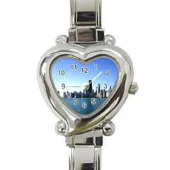 Chicago Skyline Heart Italian Charm Watch