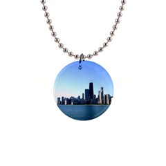 Chicago Skyline Button Necklace
