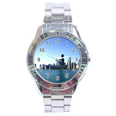 Chicago Skyline Stainless Steel Watch (Men s)