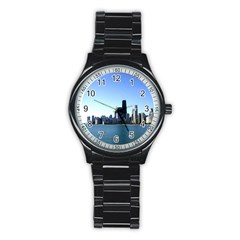 Chicago Skyline Sport Metal Watch (Black)
