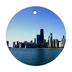 Chicago Skyline Round Ornament