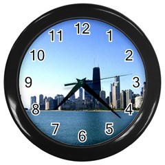 Chicago Skyline Wall Clock (Black)