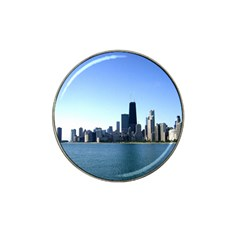 Chicago Skyline Golf Ball Marker 4 Pack (for Hat Clip)
