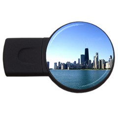 Chicago Skyline 4GB USB Flash Drive (Round)
