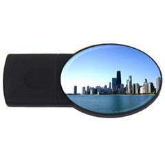 Chicago Skyline 4GB USB Flash Drive (Oval)