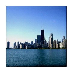 Chicago Skyline Face Towel