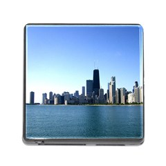 Chicago Skyline Memory Card Reader with Storage (Square)